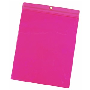 35050-VINYL POUCH, 9-3/4INx13-1/4IN, PINK, PACK OF 25