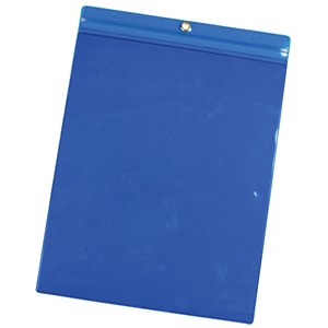 35051-VINYL POUCH, 9-3/4INx13-1/4IN, BLUE, PACK OF 25