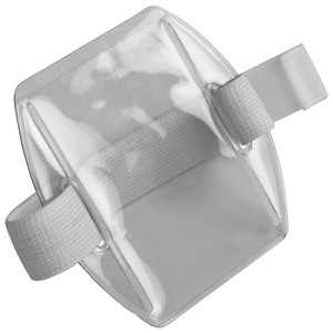 35061-HOLDER, ARM BADGE, 2-3/8INX3-3/8IN (IS), WHITE