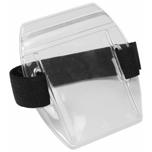 35063-HOLDER, ARM BADGE, ZIP 2-3/8INX3-3/8IN (IS), BLACK
