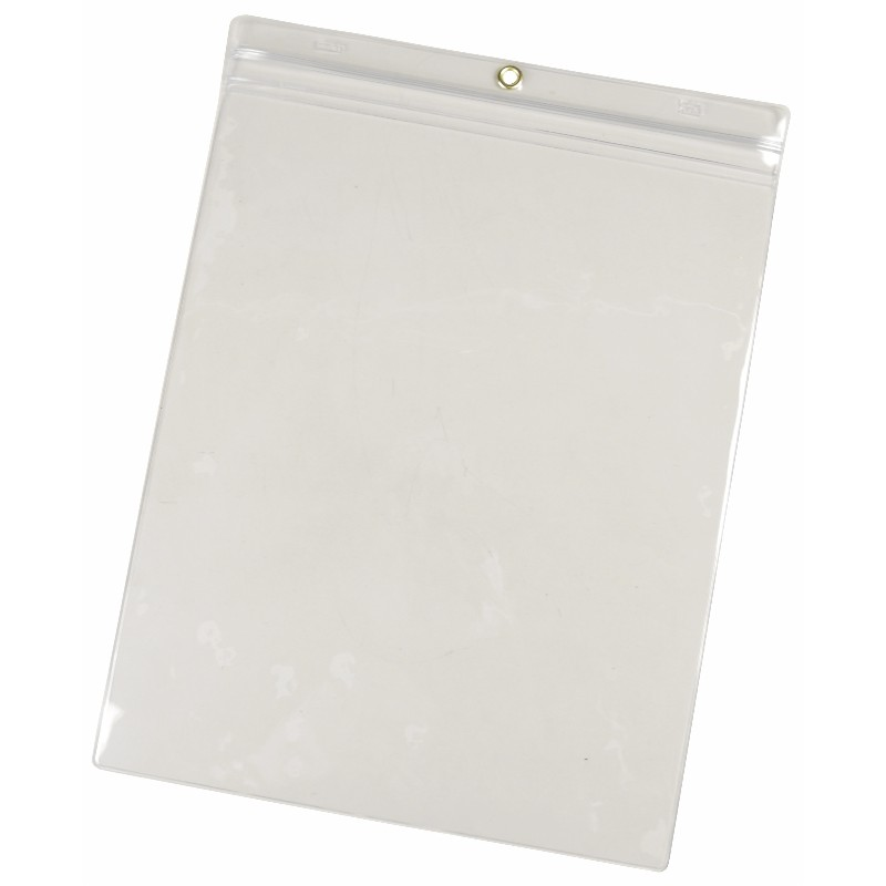 35048-VINYL POUCH, 9-3/4INx13-1/4IN, CLEAR, PACK OF 25
