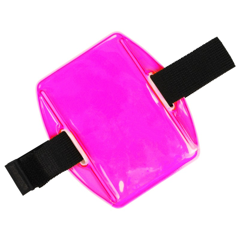 35191-HOLDER, ARM BADGE, 2-3/8INX3-3/8IN (IS), PINK